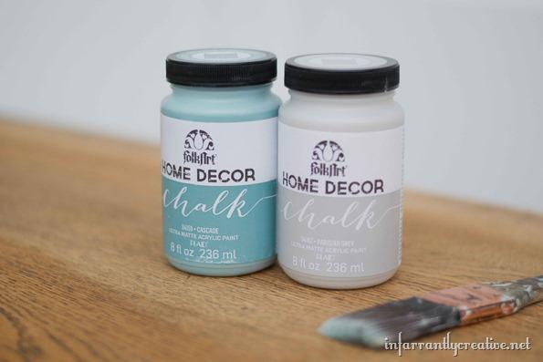 Gray And Aqua Dresser With Milk Glass Knobs - Infarrantly Creative
