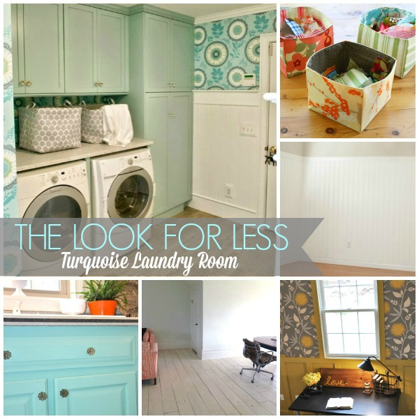Look For Less Turquoise Laundry Room