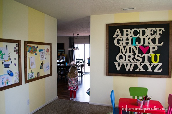 alphabet on walls