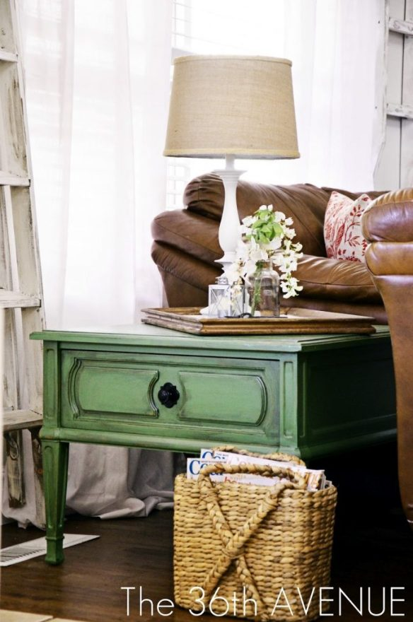 antiqued-green-end-table