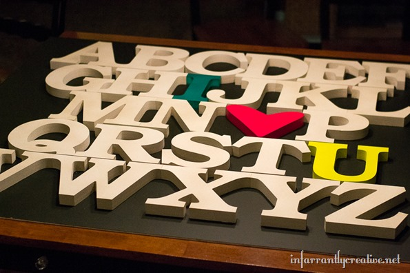 laying out letters for alphabet sign