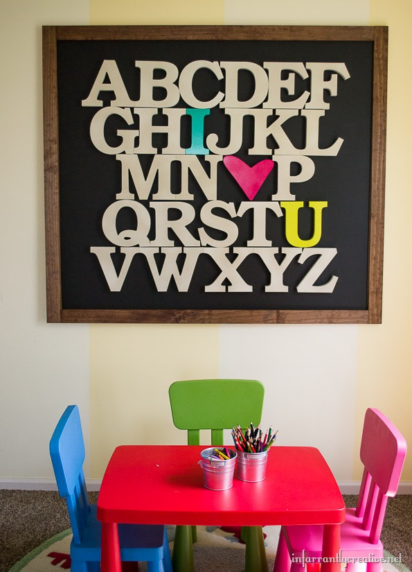 oversized alphabet sign
