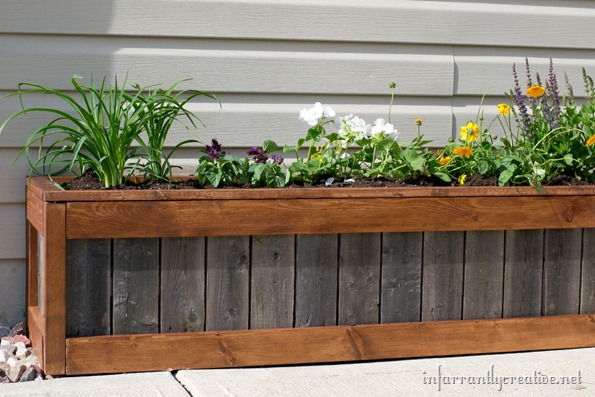 how to build an upcycled planter box infarrantly creative