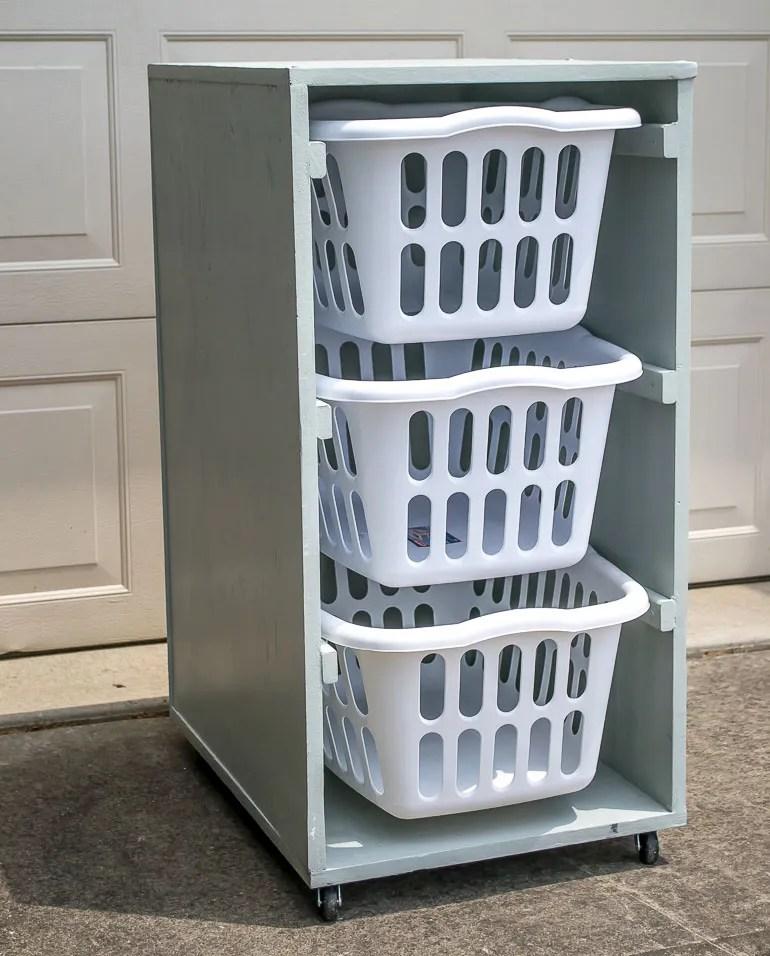 Elegant Built In Laundry Hamper Cabinet