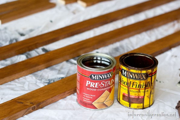 staining planter box