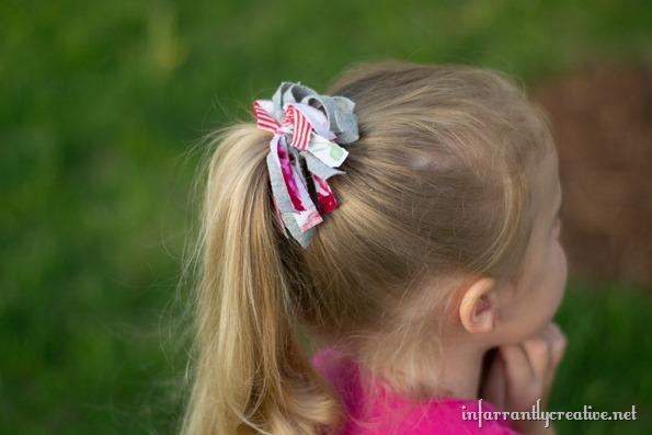 tshirt ponytail