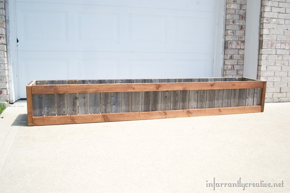 weather wood planter box
