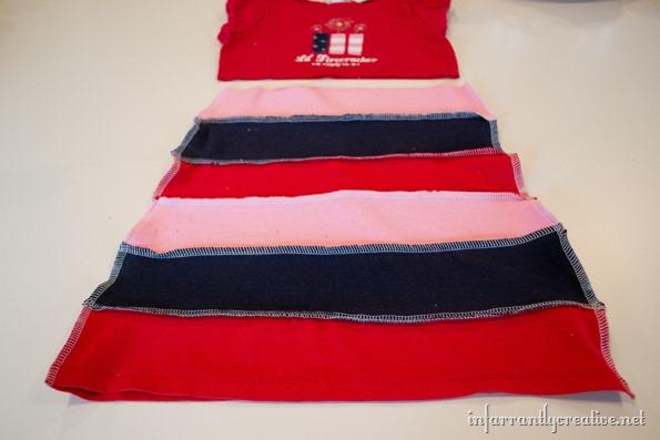 DIY upcycled tshirt dress