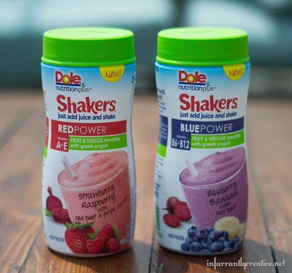 DOLE Nutrition Plus Fruit & Veggies POWER Smoothie Shakers