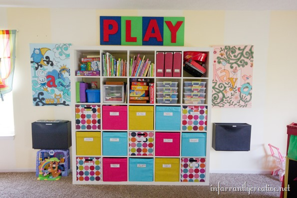 IKEA expedit for playroom