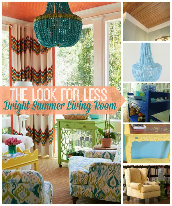 5 Ways To Get This Look Summer Color Living Room Infarrantly Creative