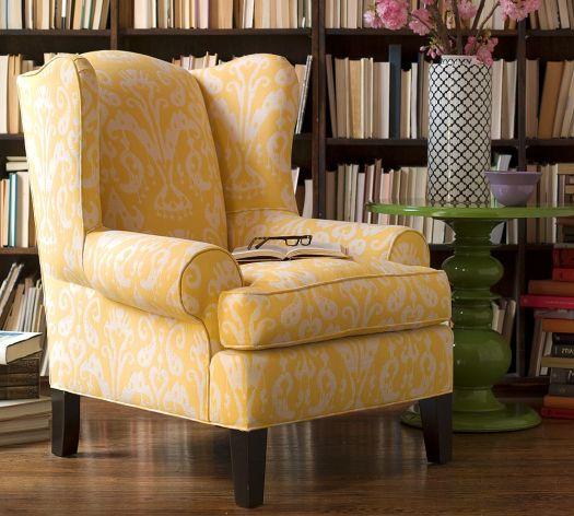 Yellow Ikat Chair DIY