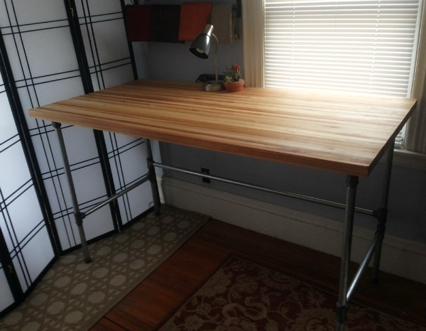 diy-industrial-butcher-block-table
