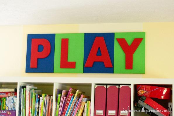 playroom letter art