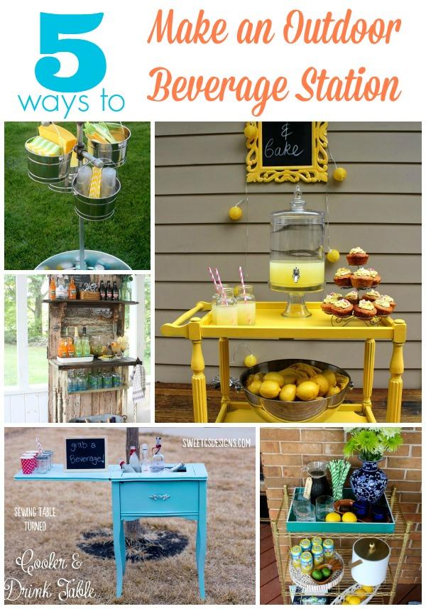 DIY-beverage-station-5-ways