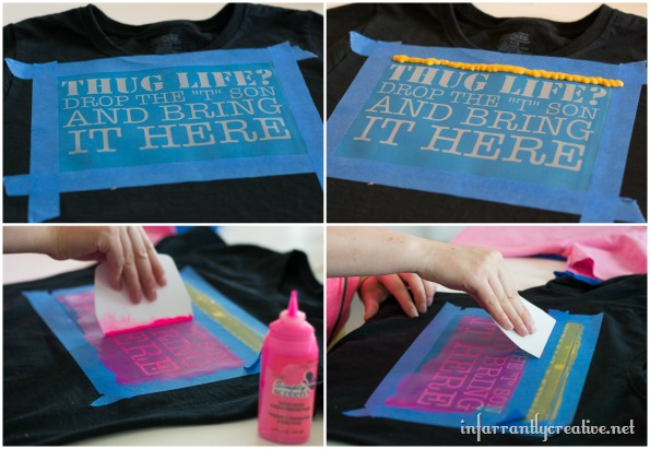 how to screenprint using simply screen