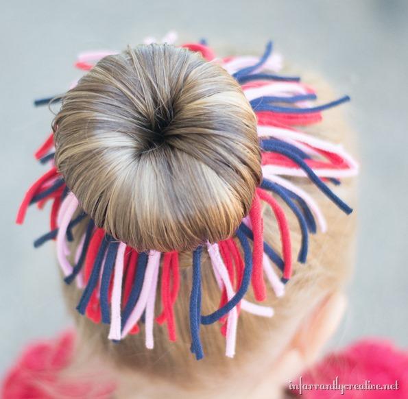 t-shirt hair bow