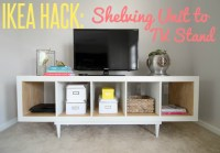 IKEA HACK: Shelving Unit to TV Stand - Infarrantly Creative