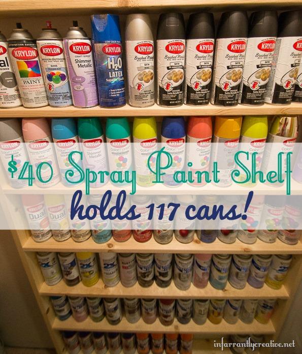 spray paint shelf