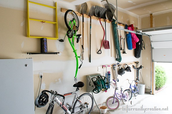 DIY garage organization cheap