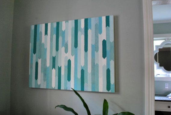 diy-turquoise-painting