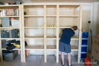 How to Build Garage Shelves - Infarrantly Creative