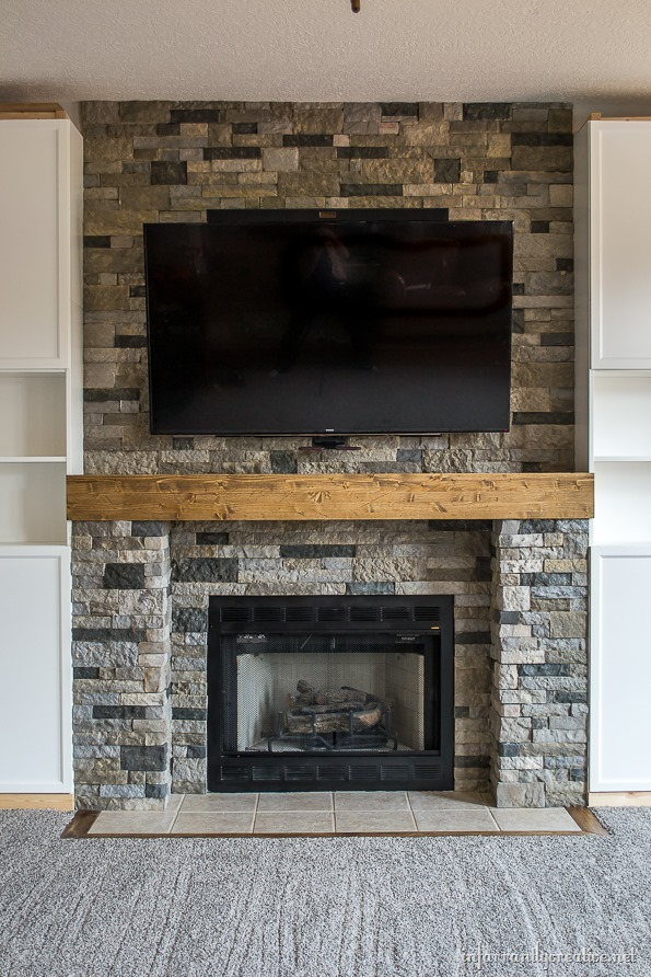 Family Room Makeover Part 4: AirStone Fireplace Makeover - Infarrantly Creative