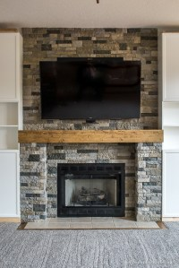 Family Room Makeover Part 4: AirStone Fireplace Makeover ...
