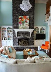 5 Ways to Get This Look: Stone Fireplace Family Room