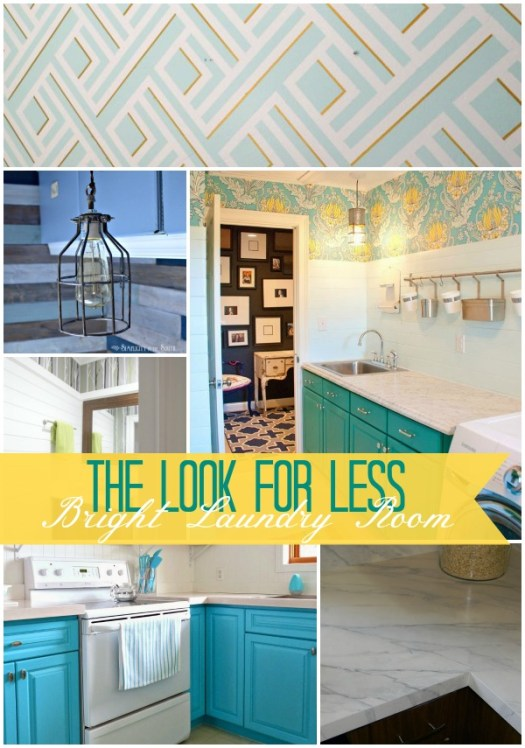 5 Ways to Get This Look:  Bright Laundry Room