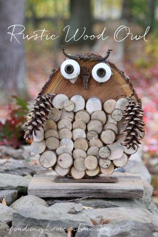 DIY Rustic Wood Owl  Infarrantly Creative