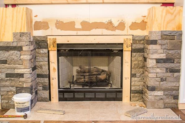 airstone fireplace brace