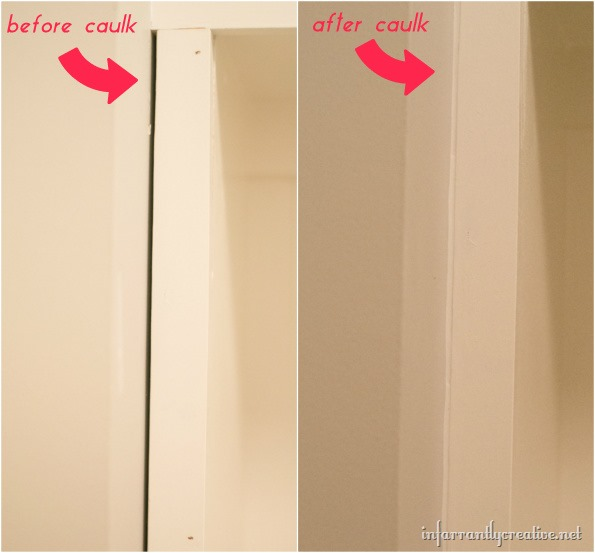 caulking mudroom lockers