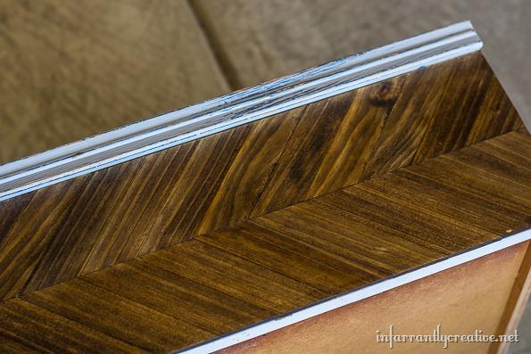 dark walnut herringbone dresser