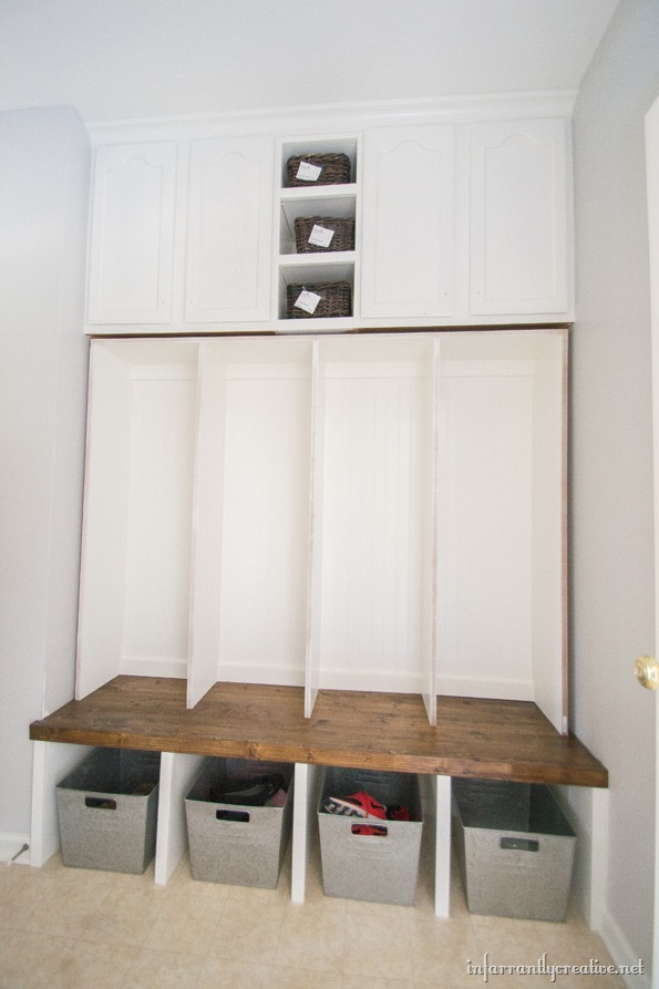 diy mudroom lockers