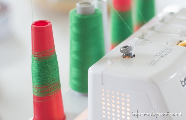 green serger thread