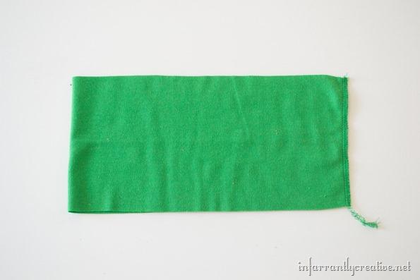 green waistband for pumpkin skirt