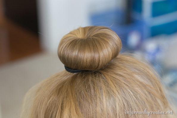 halloween hair with a bun