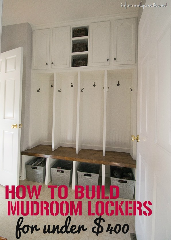 how to build mudroom lockers DIY