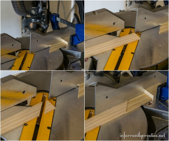 how to cut a herringbone pattern out of wood
