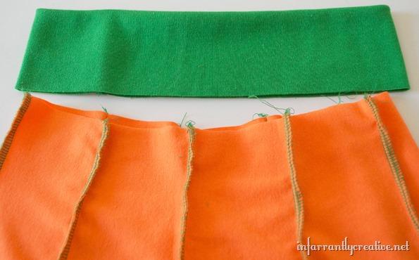 how to sew a pumpkin skirt