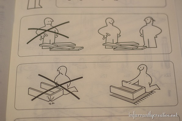 ikea billy bookcase directions