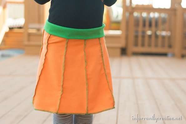 little girls pumpkin skirt