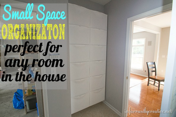 mudroom storage with ikeas trones bins #first59