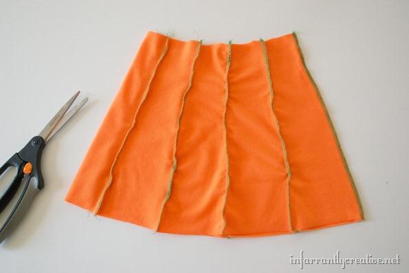 pumpkin skirt diy