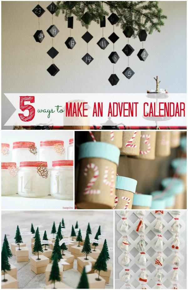 5 ways to make an advent calendar infarrantly creative. Black Bedroom Furniture Sets. Home Design Ideas