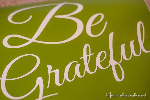 be grateful vinyl