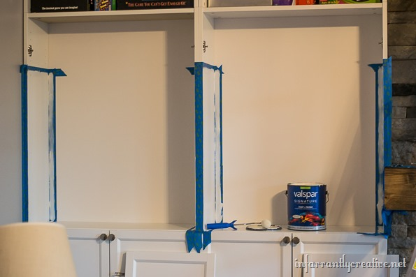 filling holes on bookcases