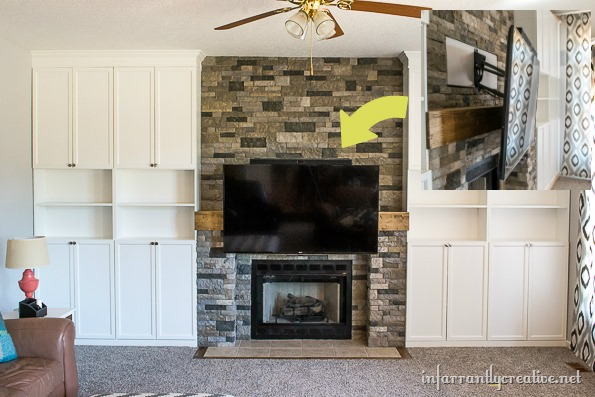 mantel mount tv