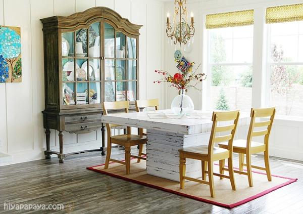 rustic dining room 600